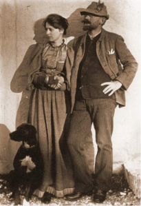 Famous Skagen artist P. S. Krøyer and his wife, Marie. These photos should prove that the Skagen artists were truly the Scandinavian hipsters of their day.