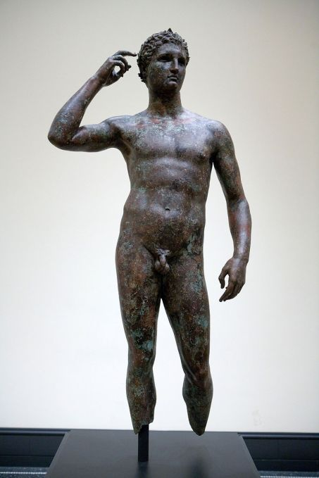 Greek bronze, The Victorious Youth, J. Paul Getty Museum