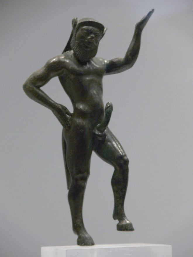 Statue of a satyr, Athens Archeological Museum