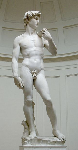 Michelangelo's David in the Galleria dell'Accademia