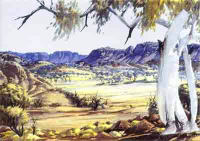 Central Australian Landscape from the 1950s