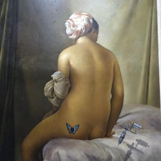 Ingres La Grande Baigneuse at Art in Island, Manila