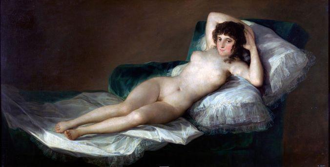 La Maja Desnuda ca 1797 – 1800, Francisco de Goya