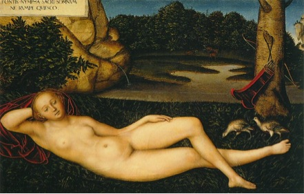 The Nymph at the Fountain ca 1530 – 34, Lucas Cranach the Elder