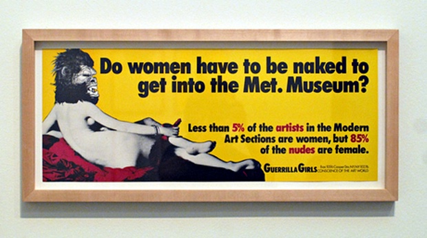 Do women have to be naked to get into the Met Museum? 1989, the Guerrilla Girls